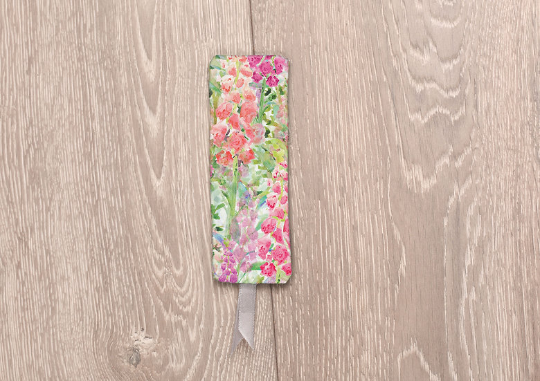 'Foxglove Frenzy' Bookmark