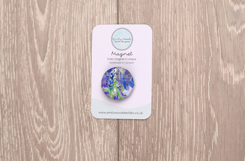 'Blooming Bluebells' Fabric Magnet