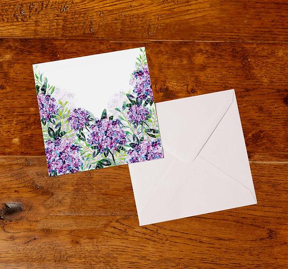 'Hydrangeas' Greetings Card