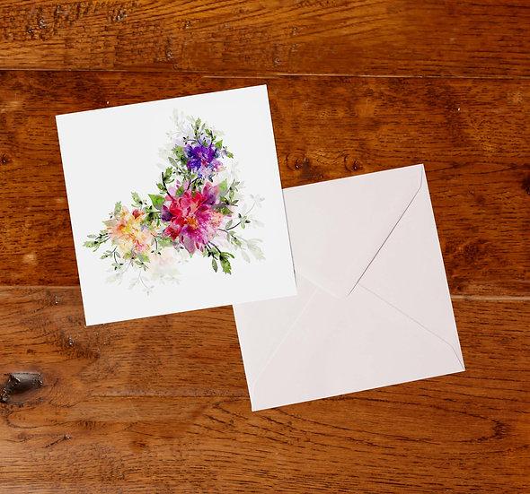 'Roses' Greetings Card