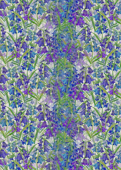 'Bluebell Clusters' Fabric