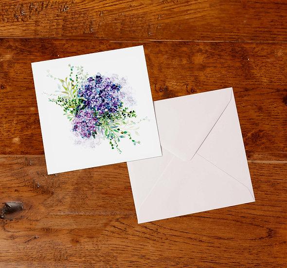 'Hydrangea Bouquet' Greetings Card