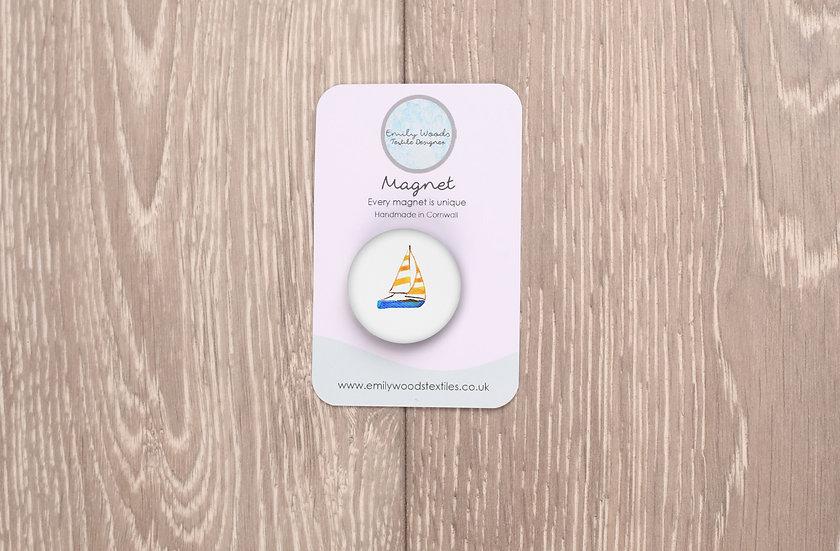 Boat Fabric Magnet