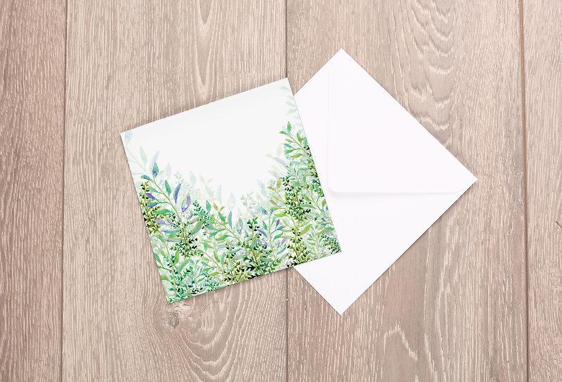 'Foliage' Greetings Card