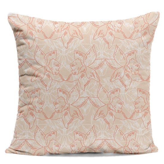 Peach Daffodil Cushion
