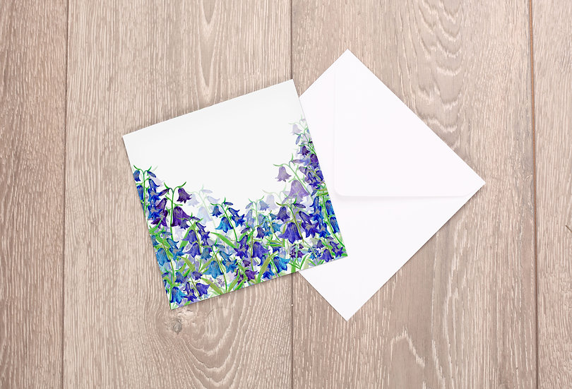 'Bluebell Valley' Greetings Card