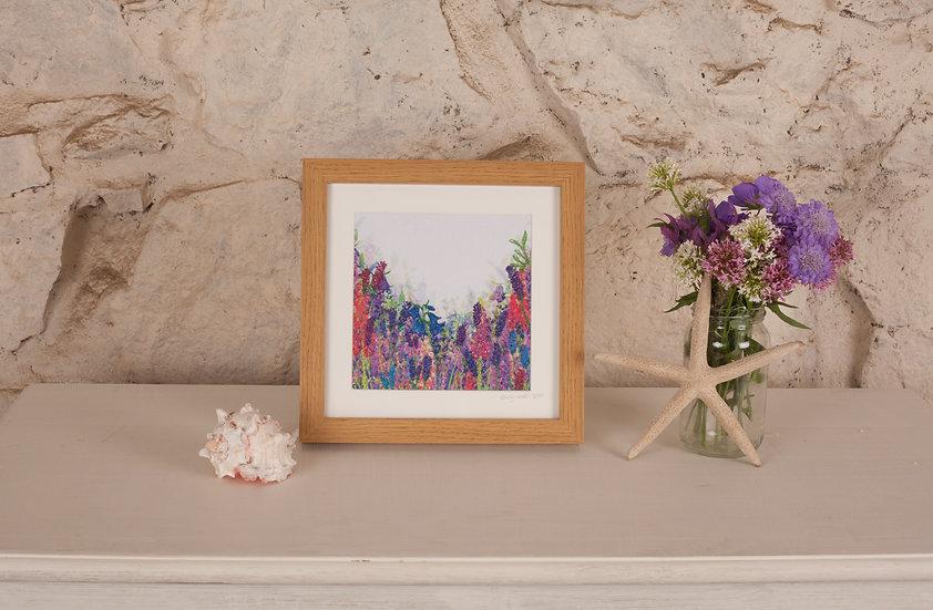 'Flourishing Flowers' Embroidered Fabric Print