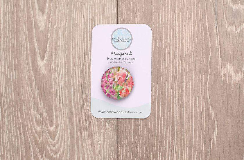 'Foxglove Frenzy' Fabric Magnet