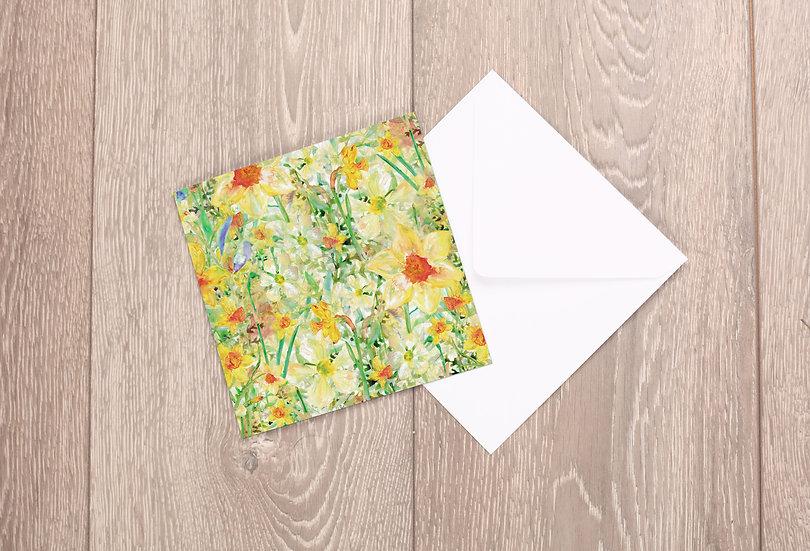 'Daffodil Crazy' Greetings Card