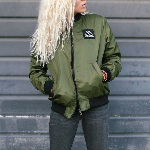 women's bomber patch bomber jacket