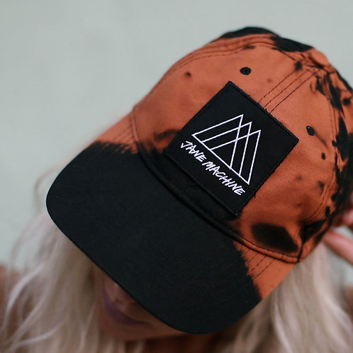 hand-dyed custom patch hat