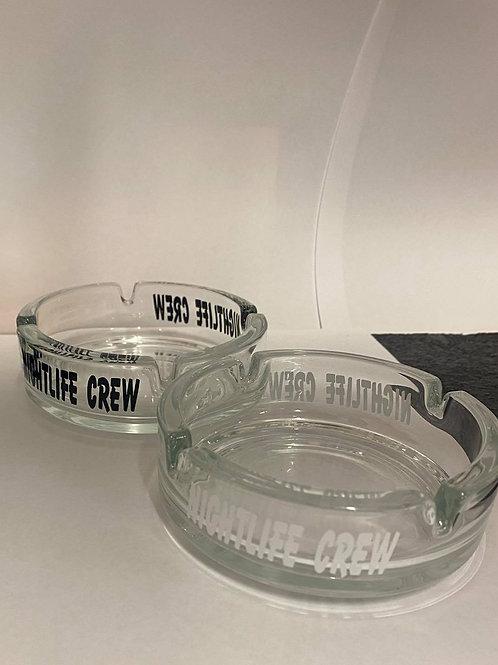 Nightlife Crew Glass Ashtray
