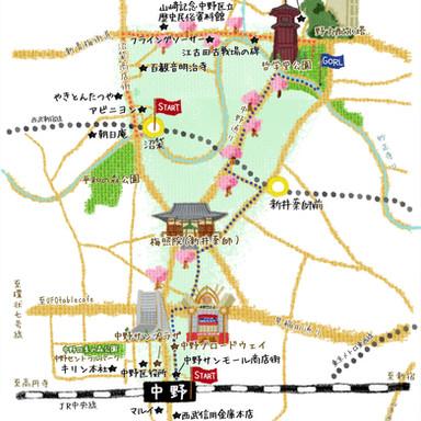 東京人 中野 MAP
