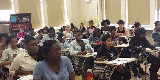 Summer bridge program students in a classroom