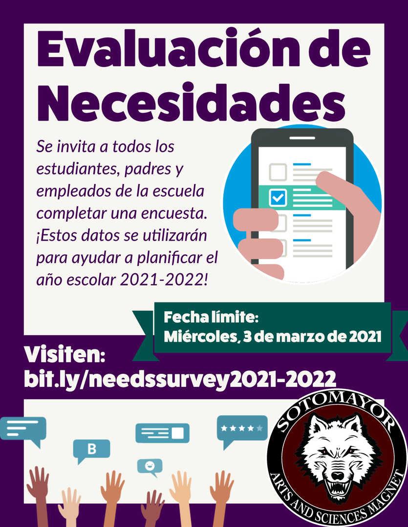 Comprehensive Needs Assessment Survey Sp