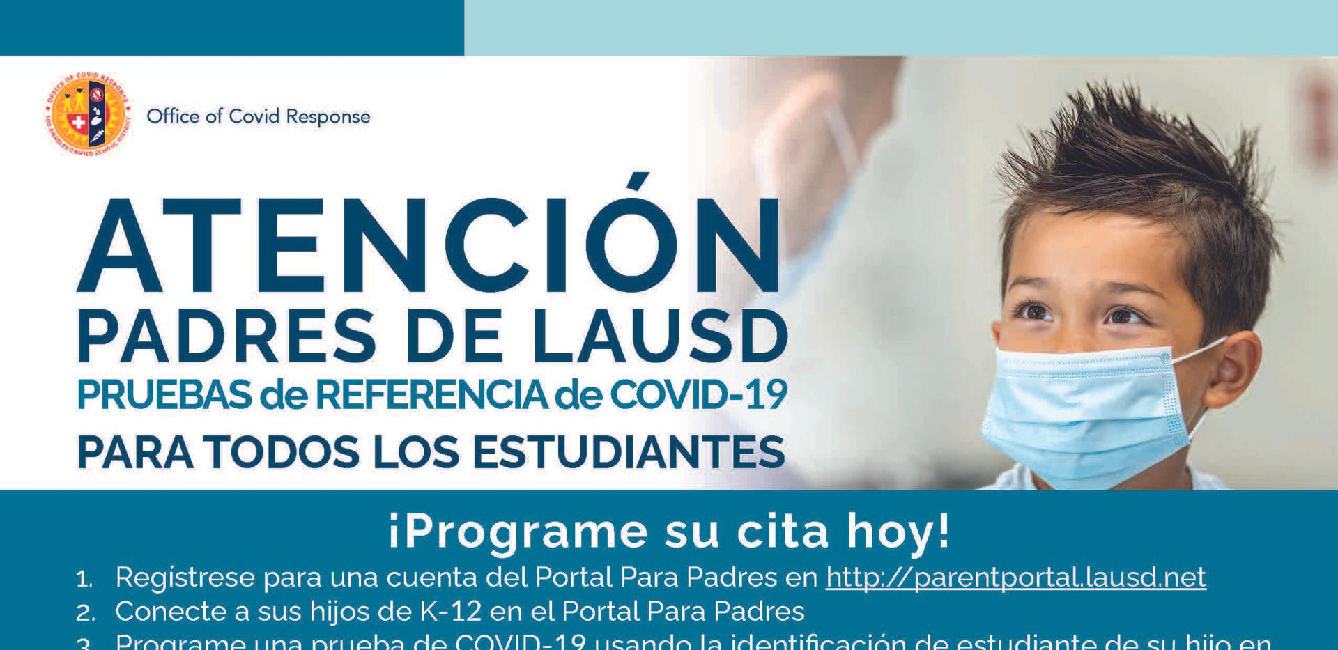 StudentCovidTestingFlyer_Spanish_3.31.21