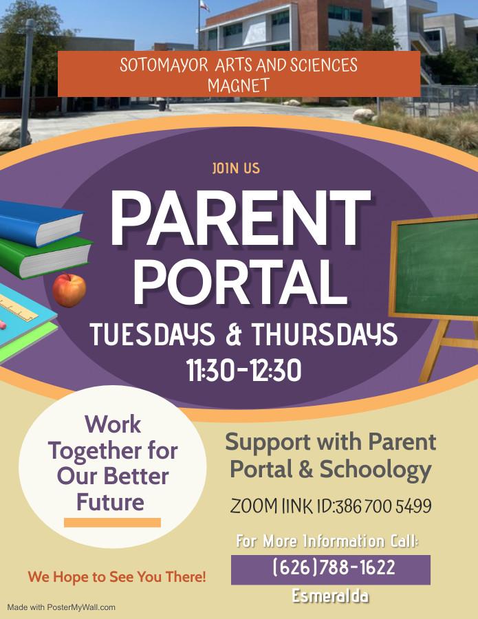 sotomayor Parent Meeting Flyer - Made wi