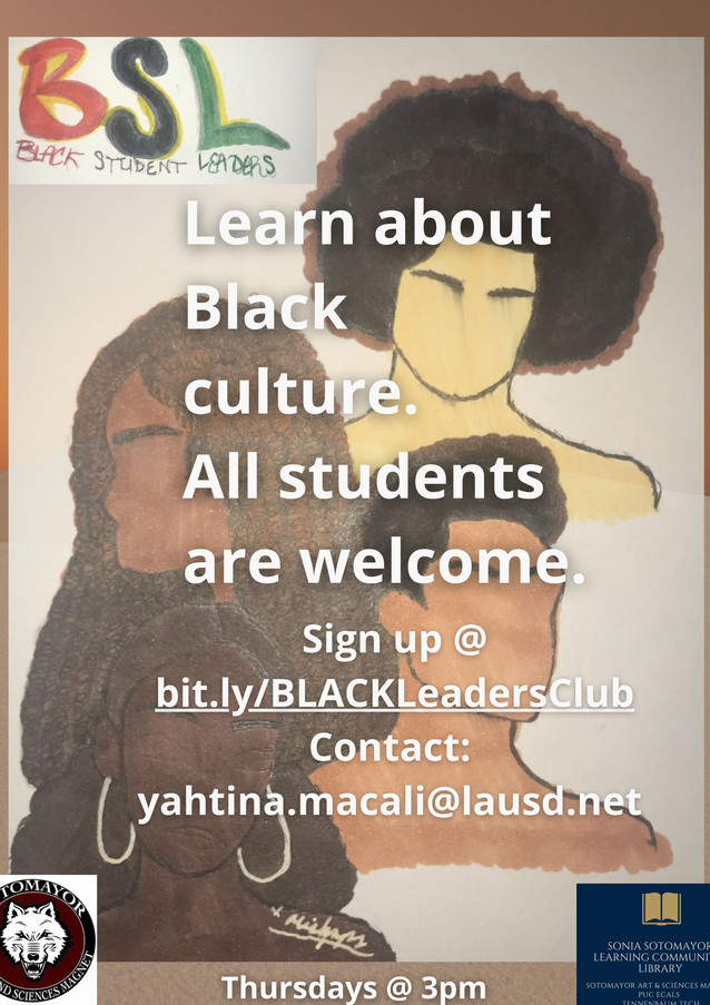 A club to learn about Black culture. All