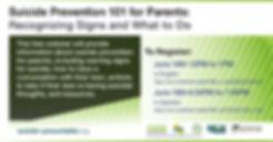 2020 Suicide Prevention 101 for Parents