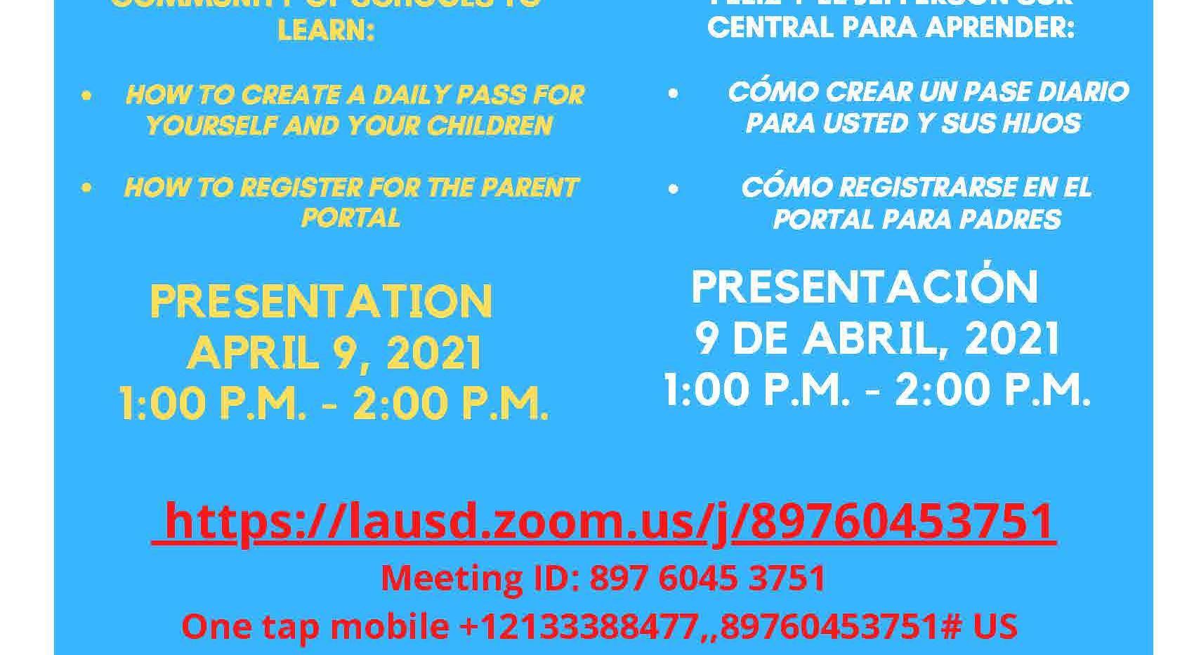DailyPass and Parent Portal Wkshp_Biling