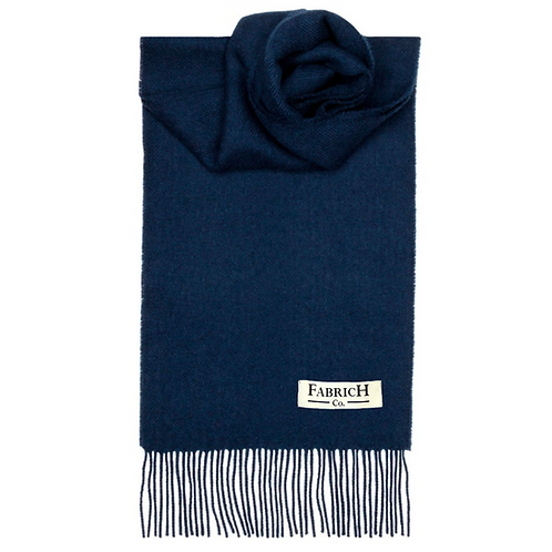 Fabrich Lambswool Scarf - Navy