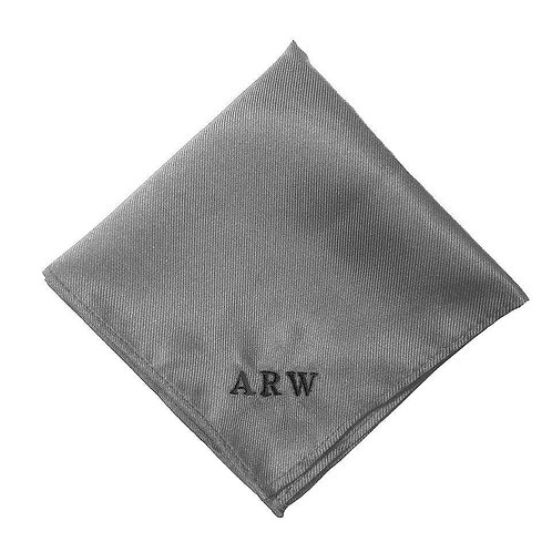 Fabrich Personalised Pocket Square - Grey