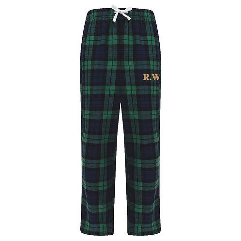 Kids Personalised Tartan Lounge Pants