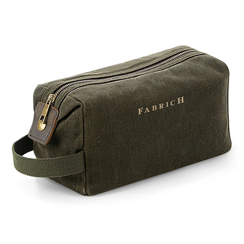 Fabrich Waxed Canvas Wash Bag