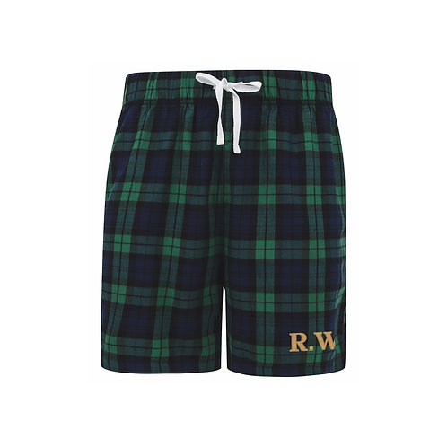 Mens Personalised Tartan Lounge Shorts