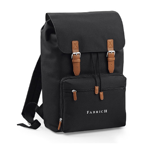 Fabrich Personalised Travel Backpack - Black