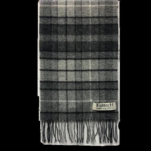 Fabrich Tartan Lambswool Scarf - Grey Buchannan