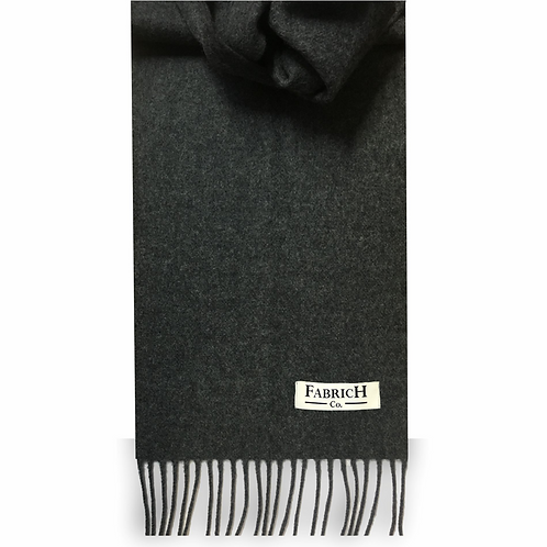 Fabrich Lambswool Scarf - Charcoal