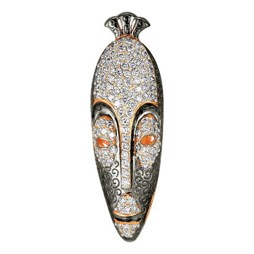 "African mask ""Eban"" Kenya (brooch-suspension)"
