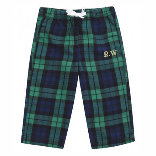 Baby/Toddler Personalised Tartan Lounge Pants