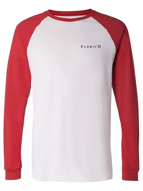 Fabrich Red/White Baseball Tee