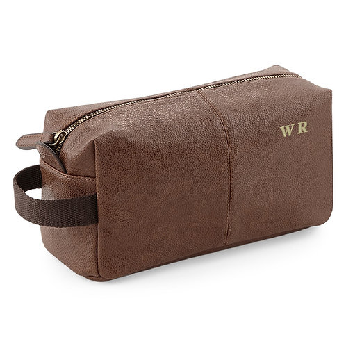 Fabrich Personalised Wash Bag - Brown