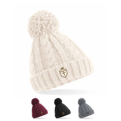 Kids Cable Knit Melange Beanie