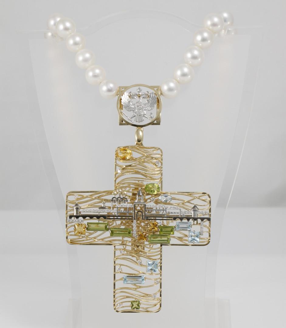 """Нагрудный крест """"Ипатьевский монастырь"""""""