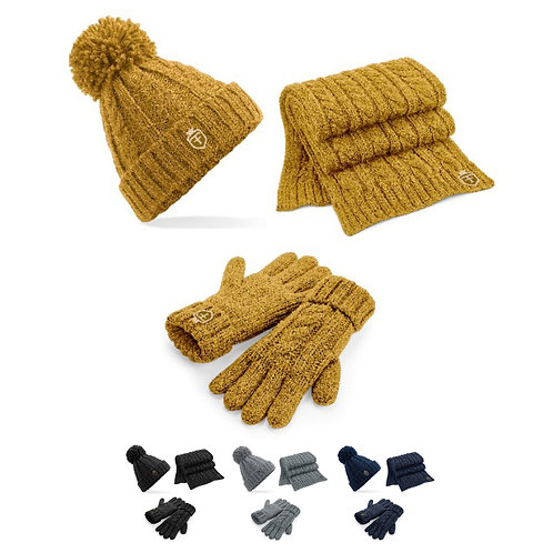 Cable Knit Melange Set