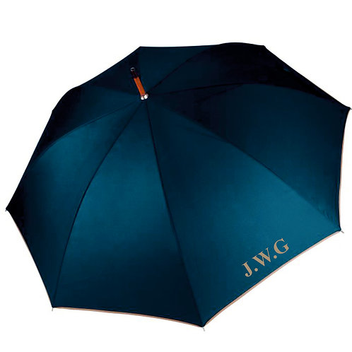 Fabrich Personalised Automatic Wooded Umbrella - Navy