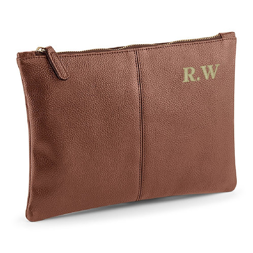 Fabrich Personalised Accessory Pouch - Brown