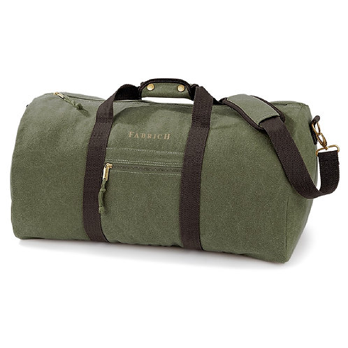 Fabrich Personalised Vintage Canvas Holdall