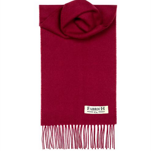 Fabrich Lambswool Scarf - Wine