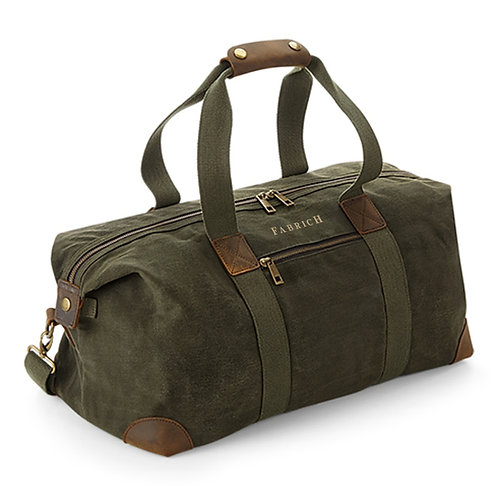 Fabrich Waxed Canvas Holdall
