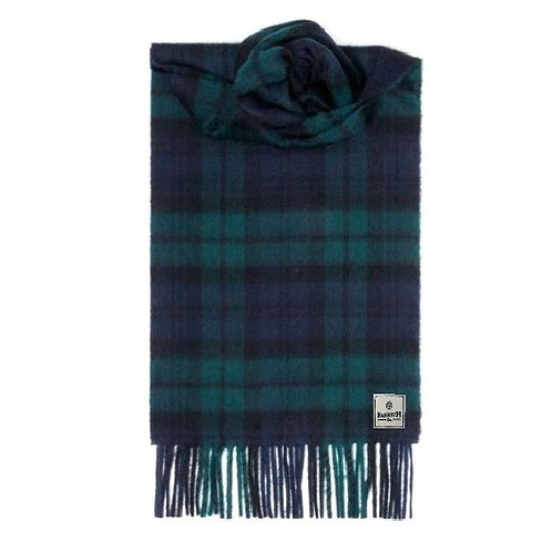 Fabrich Luxury Tartan Cashmere Scarf - Black Watch