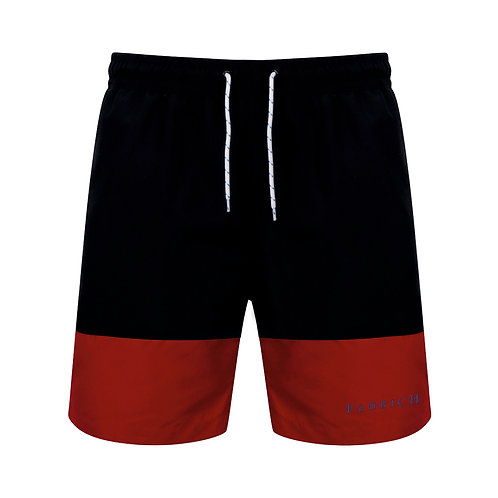 Fabrich Navy/Red Contrast Board Shorts