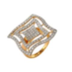 Женское кольцо из золота с фианитами