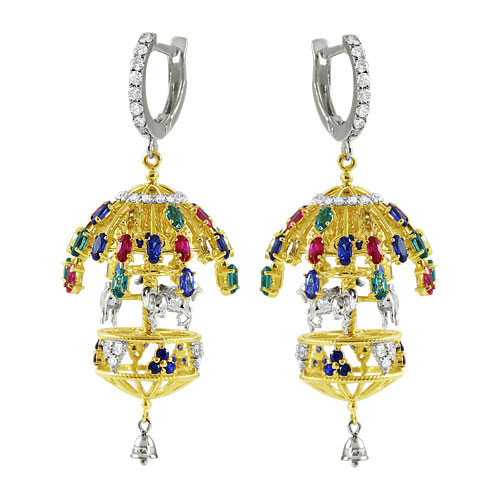 "Earrings ""Fair carousel"""
