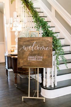 Manor House Wedding Signage