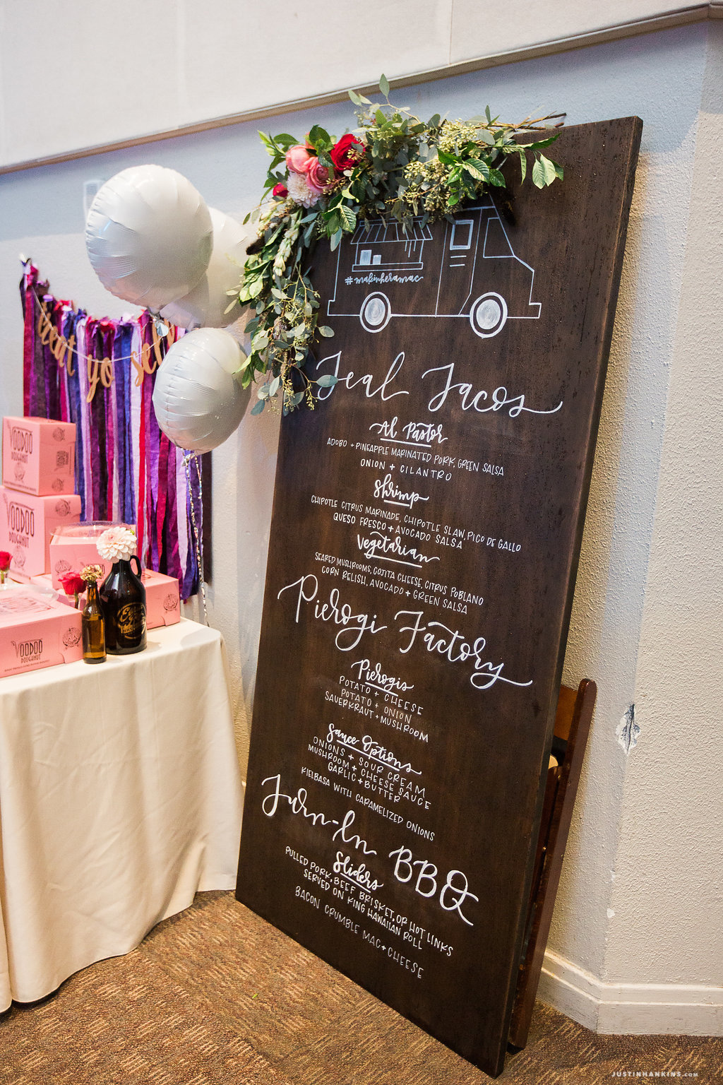 Wedding Day Calligraphy Menu